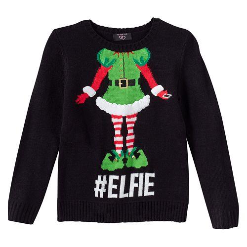 #Elfie Ugly Christmas Sweater