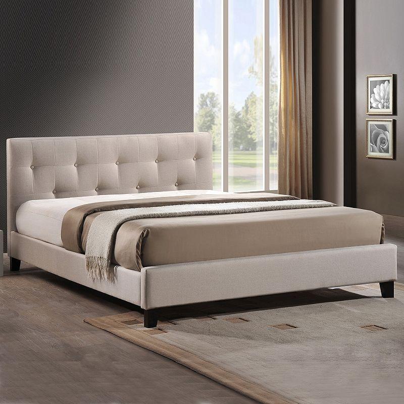 Baxton Studios Annette Upholstered Headboard Modern Bed