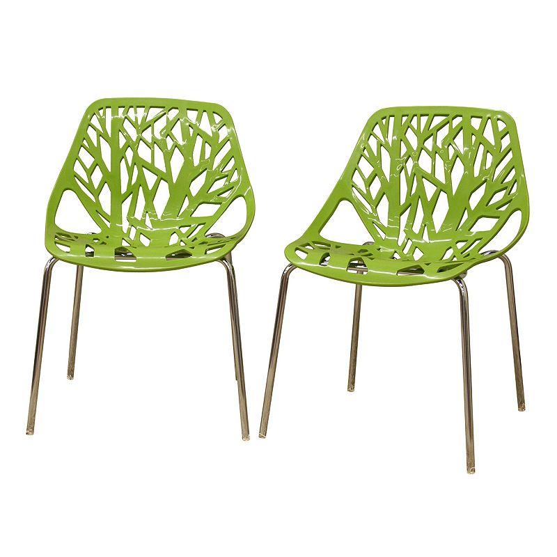 Baxton Studios 2-Piece Birch Sapling Accent Chair Set