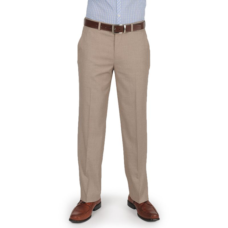 Men's Dockers Essentials Straight-Fit Flat Front Dress Pants