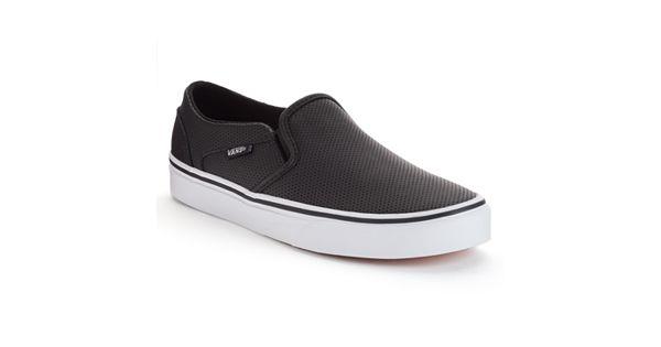 Vans Asher Women S Perforated Slip On Skate Shoes