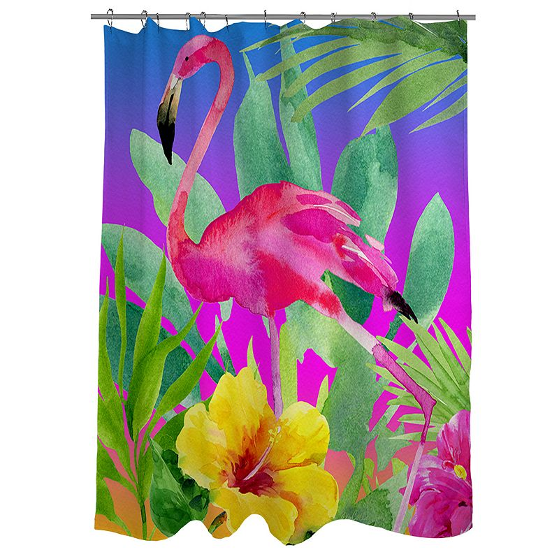 Thumbprintz Another Day in Paradise Fabric Shower Curtain