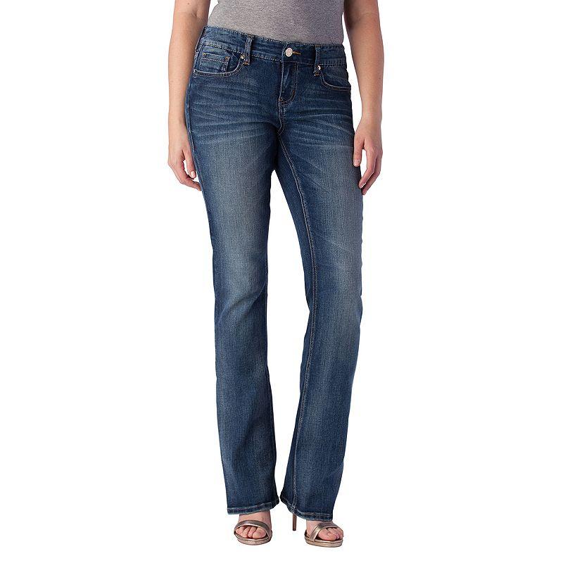 Seven7 Faded Bootcut Jeans - Women's, Size: 4 (Blue)
