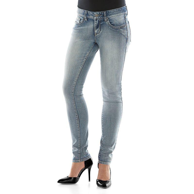 Juniors' SO® Potassium Wash Skinny Jeans