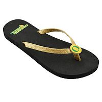 Women's Oregon Ducks Flip Flops