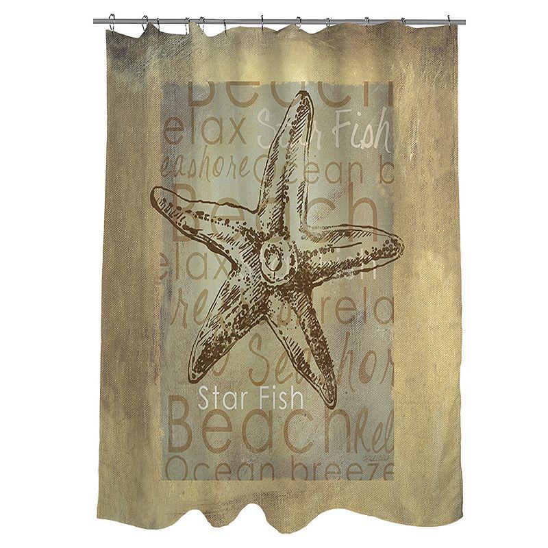 Thumbprintz Shore Life 1 Fabric Shower Curtain