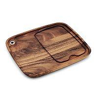 Ironwood Gourmet 11-in. Acacia Wood Steak Barbecue Plate