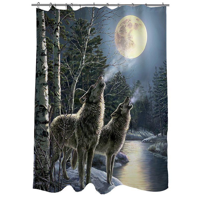 Thumbprintz Howling Fabric Shower Curtain