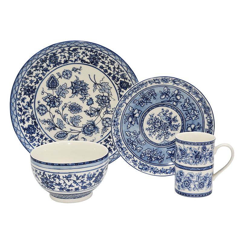 222 Fifth Blue Dynasty 16-pc. Dinnerware Set