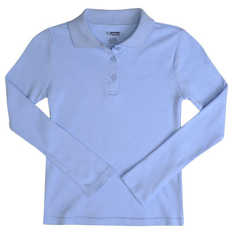 Girls 4-6x French Toast School Uniform Long-Sleeve Picot Polo