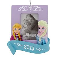 Disney's Frozen Sisters 2015 Picture Frame Christmas Ornament by Hallmark