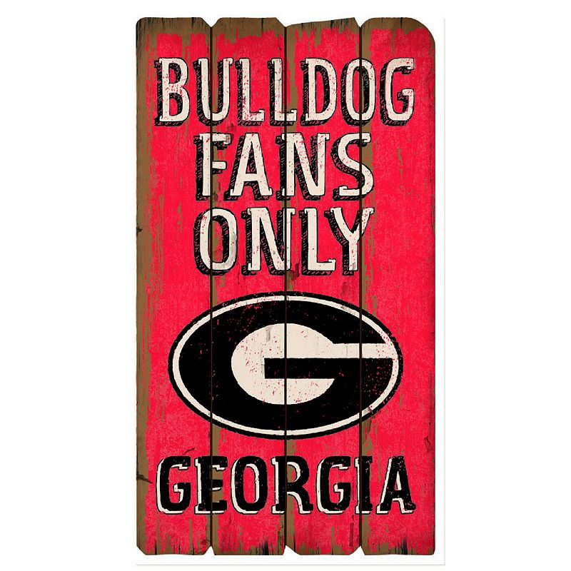 Legacy Athletic Georgia Bulldogs Plank Sign