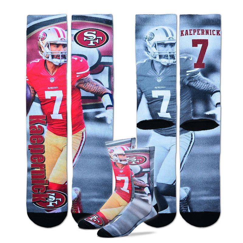 Men's For Bare Feet San Francisco 49ers Colin Kaepernick Promo Crew Socks