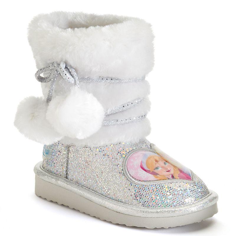 Disney's Frozen Anna and Elsa Toddler Girls' Glitter Boots