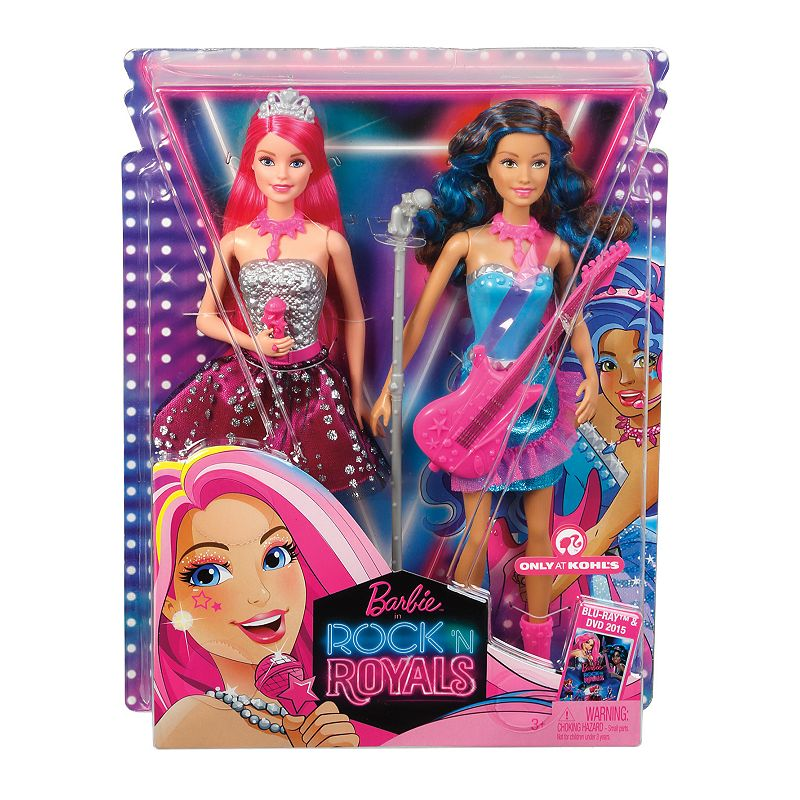 Barbie Rock 'N Royals Princess Courtney & Erika Doll Set