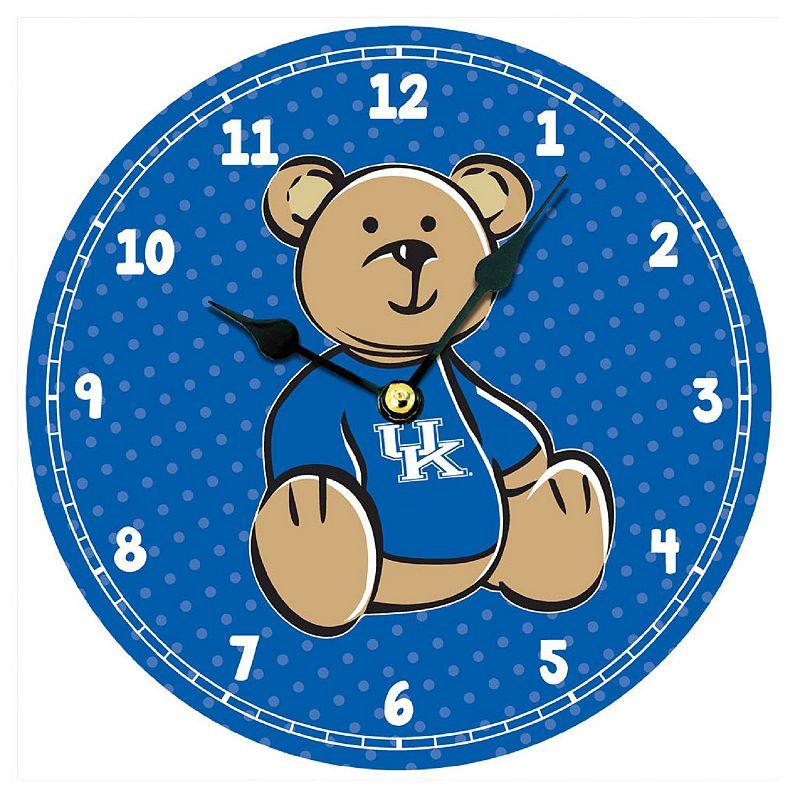 Legacy Athletic Kentucky Wildcats Teddy Bear Wall Clock