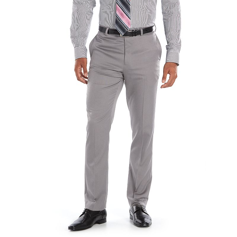 Men's Apt. 9® Extra-Slim Fit Melange Performance Stretch Dress Pants