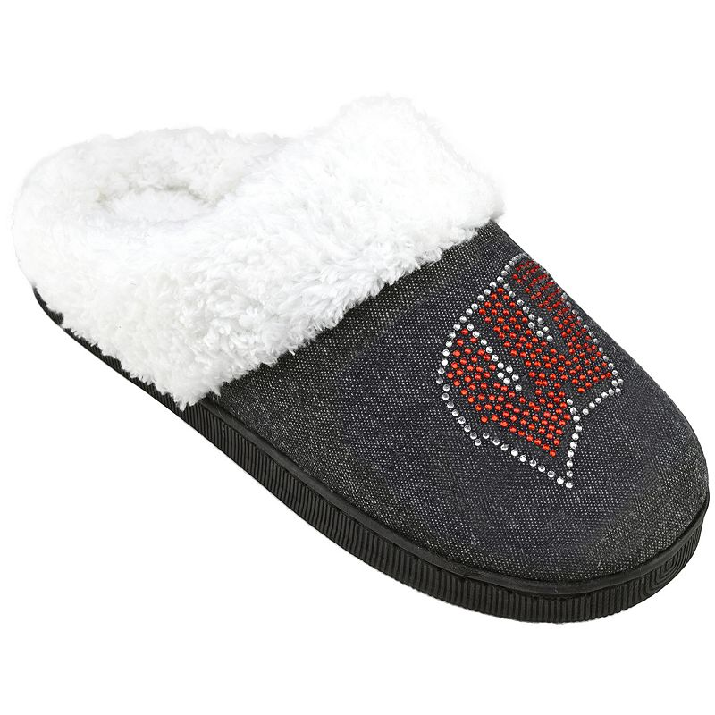 Women's Wisconsin Badgers Denim Slippers