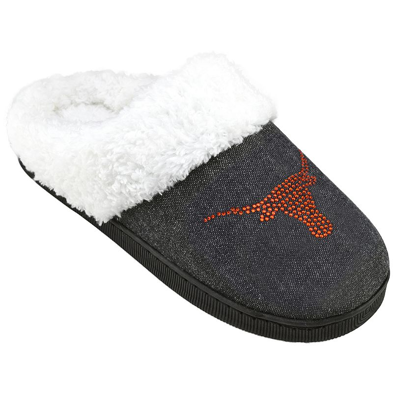 Women's Texas Longhorns Denim Slippers