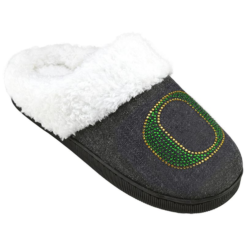 Women's Oregon Ducks Denim Slippers