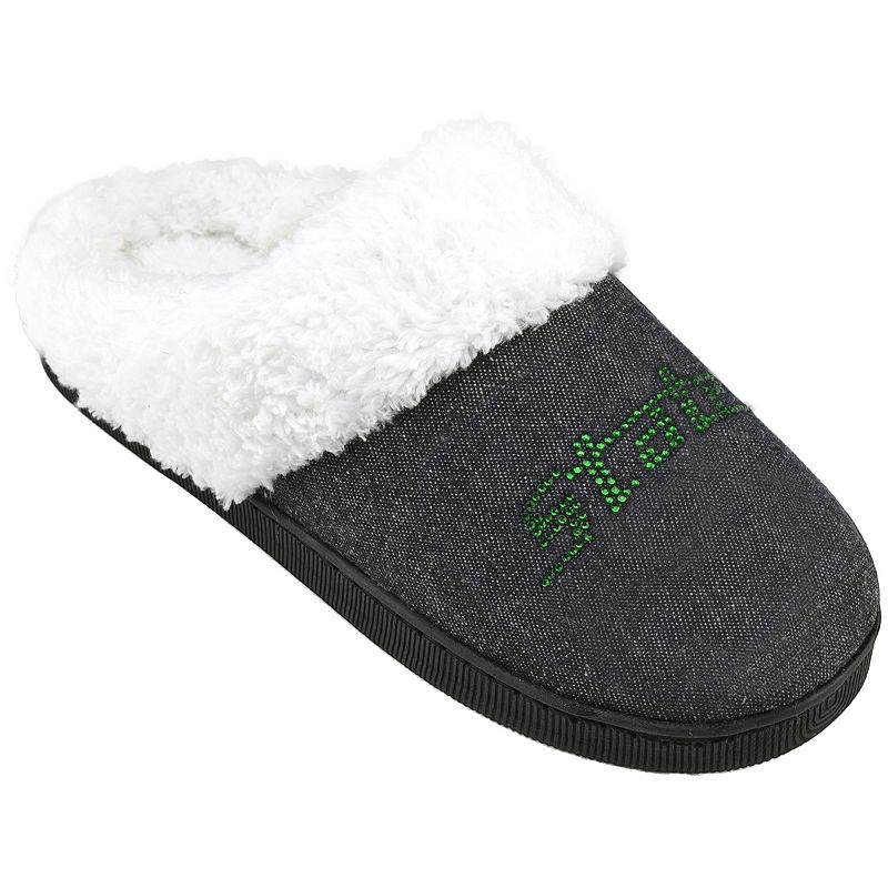 Women's Michigan State Spartans Denim Slippers