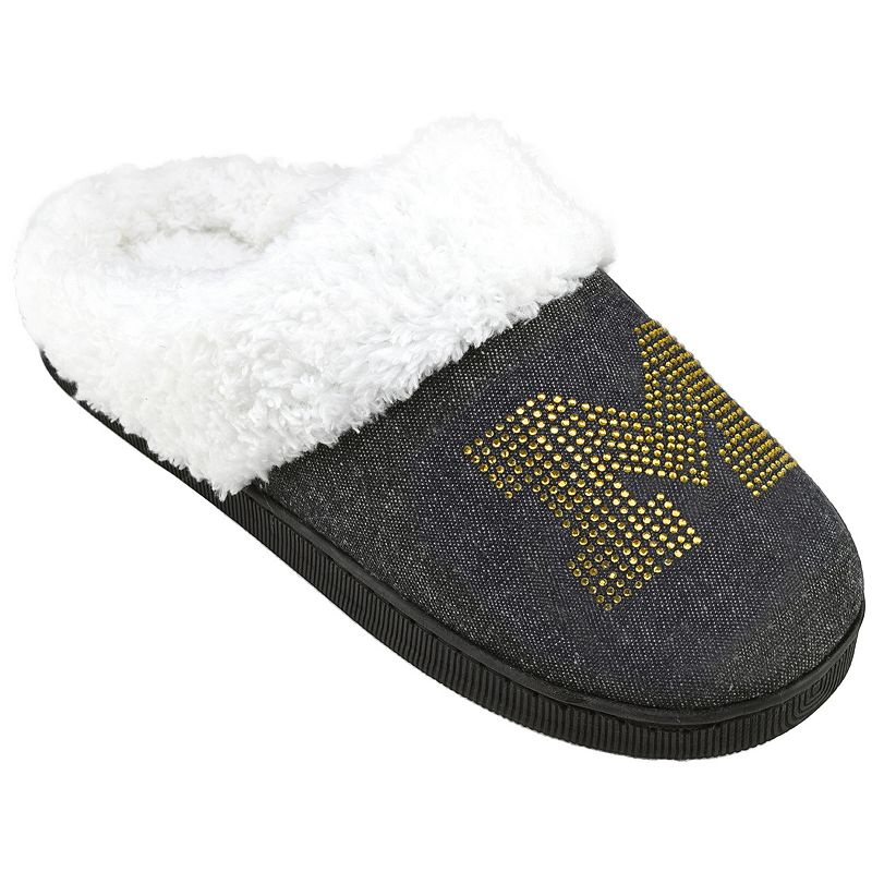 Women's Michigan Wolverines Denim Slippers