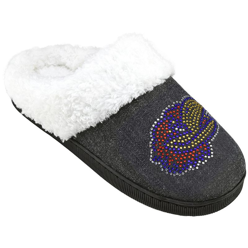 Women's Kansas Jayhawks Denim Slippers
