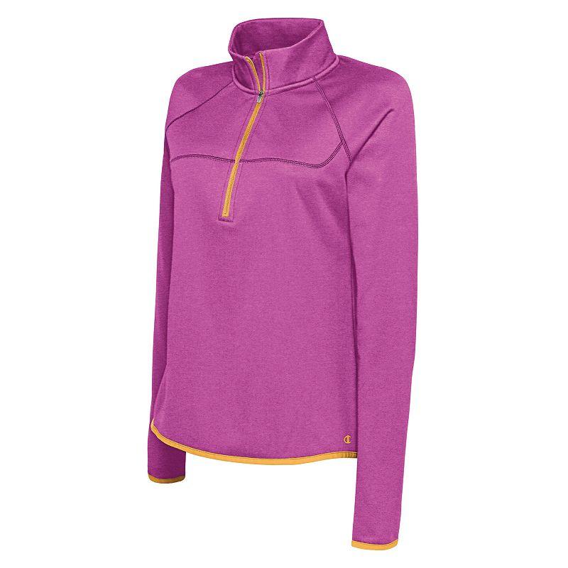 Women's Champion Tech Fleece Quarter-Zip Workout Top