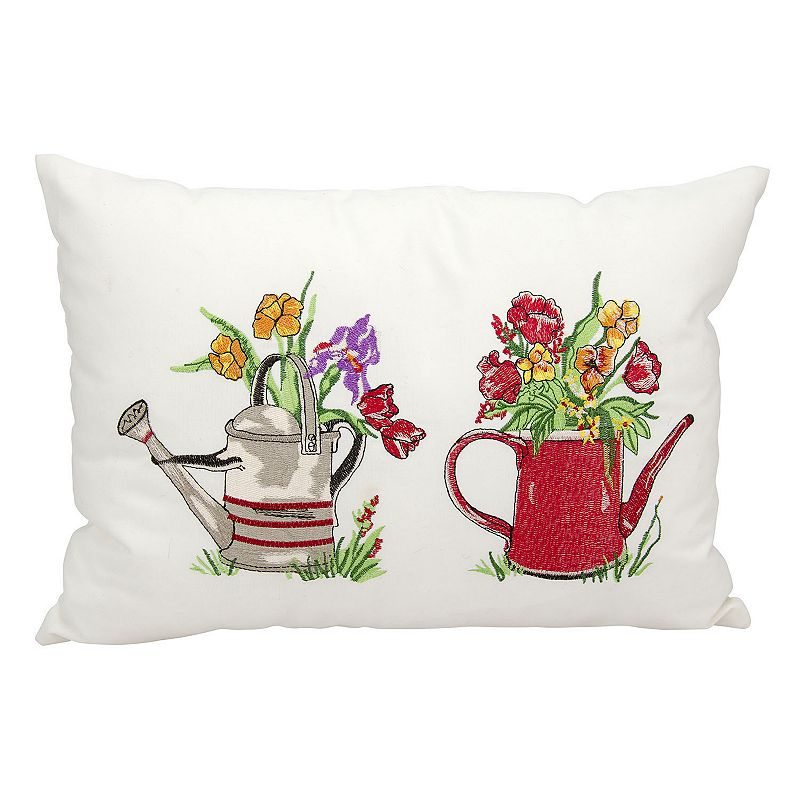 Mina Victory Watering Can Outdoor Throw Pillow