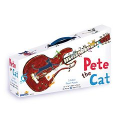 Briarpatch 36-pc. Pete the Cat 2-Sided Floor Puzzle Suitcase by