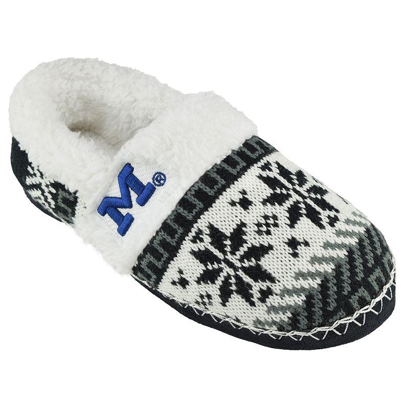 Women's Michigan Wolverines Snowflake Slippers