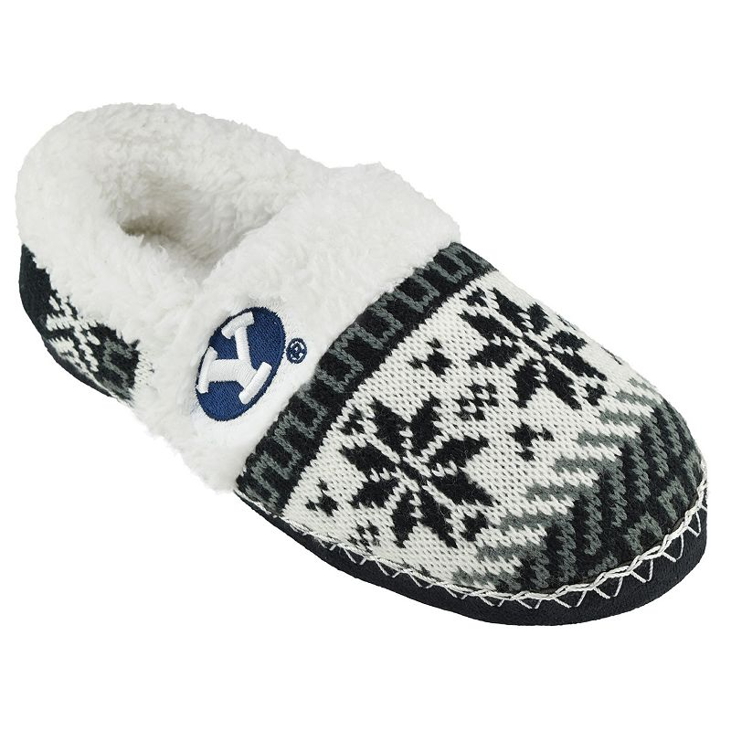 Women's BYU Cougars Snowflake Slippers
