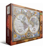 Eurographics 1000-pc. Antique World Map Jigsaw Puzzle