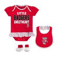 Baby Girl Wisconsin Badgers Bodysuit Set