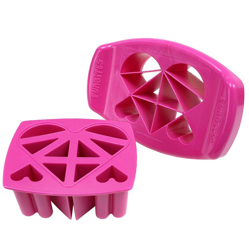 FunBites 2-pc. Hearts Food Cutter Set, Pink