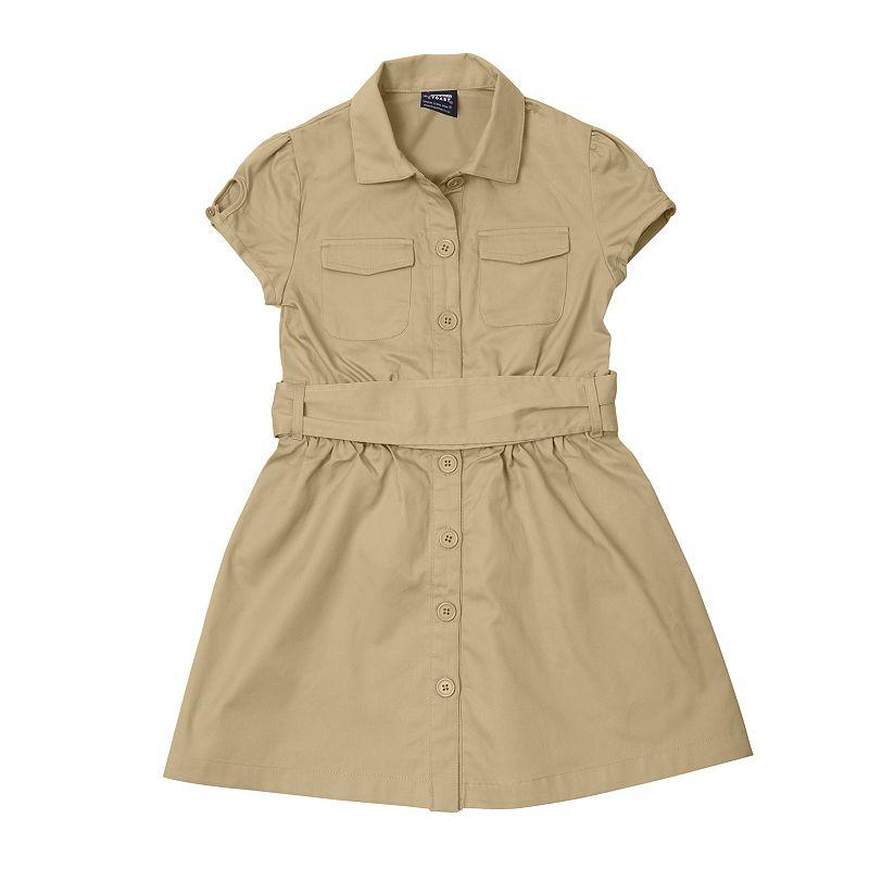 French Toast School Uniform Canvas Shirt Dress - Girls 4-6x