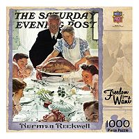 MasterPieces The Saturday Evening Post Normal Rockwell: Freedom from Want 1,000-pc. Jigsaw Puzzle