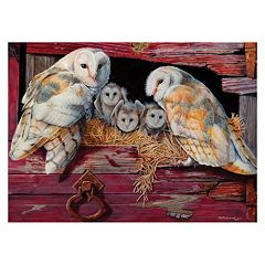 Barn Owls 1,000-pc. Jigsaw Puzzle by