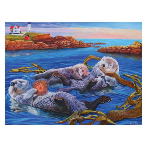 Sea Otter Family 400-pc. Jigsaw Puzzle
