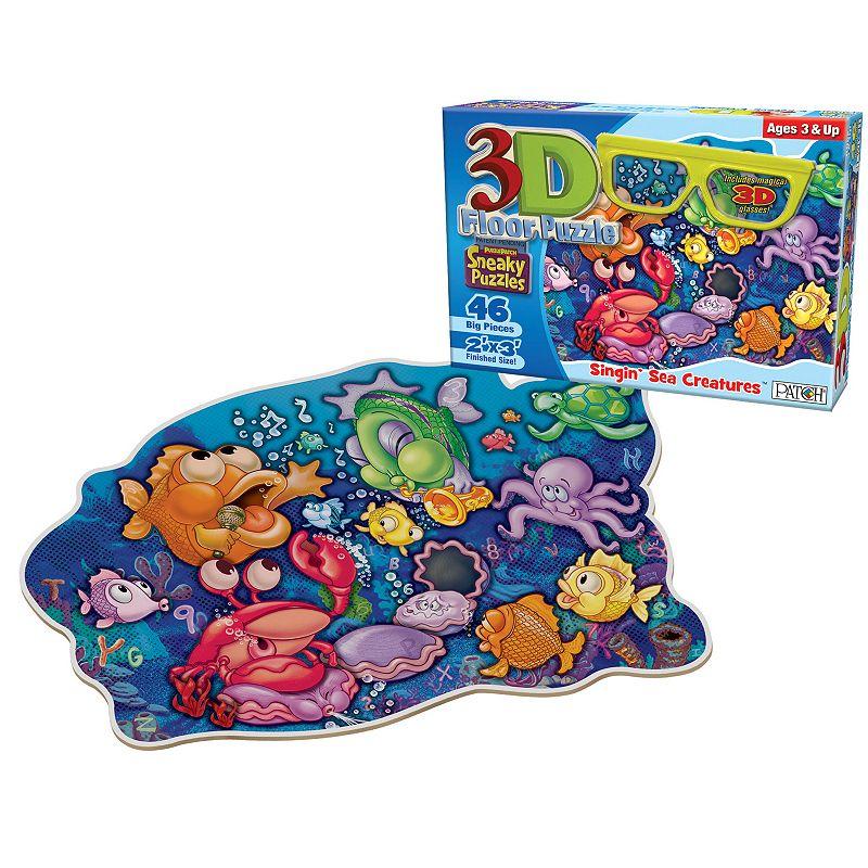 3D Sneaky Singin' Sea Creatures 46-pc. Floor Puzzle