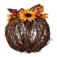 Twig Harvest Pumpkin 10-in. Decor