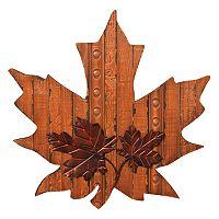 Wooden Maple Leaf Wall Decor