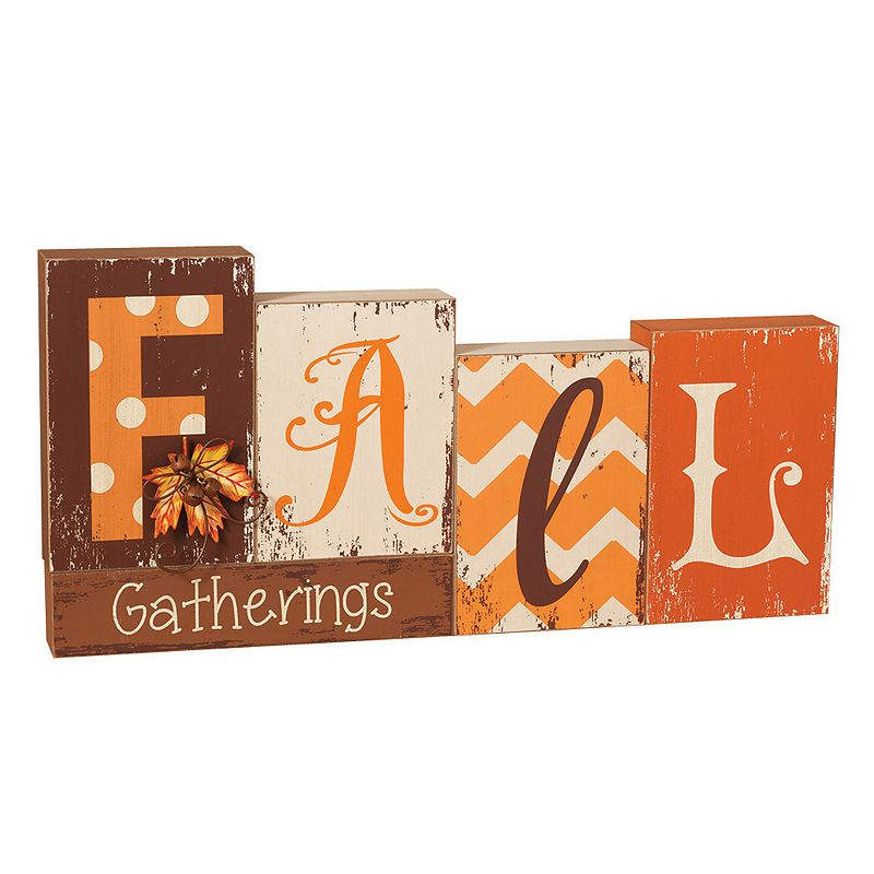Wooden ''Fall Gatherings'' Block Table Decor