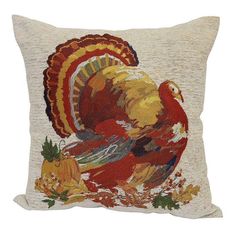 Harvest thanksgiving turkey throw pillow