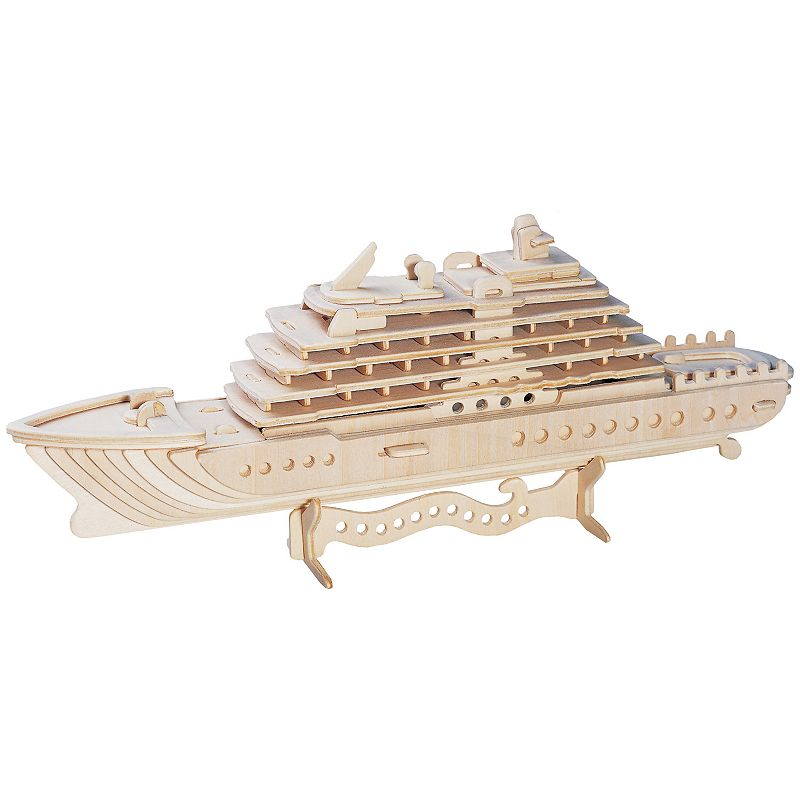 Luxury Yacht 71-pc. 3D Wooden Puzzle by Puzzled