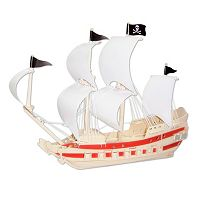 Pirate Ship 139-pc. 3D Wooden Puzzle by Puzzled