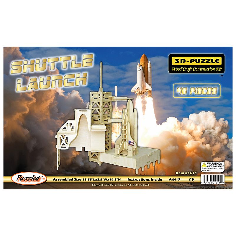 Shuttle Launch 46-pc. 3D Wooden Puzzle by Puzzled