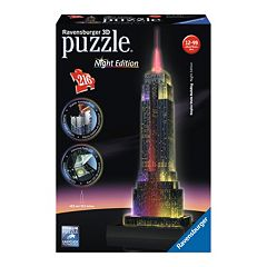 Ravensburger Empire State Building: Night Edition 216-pc. 3D Puzzle Building Set by