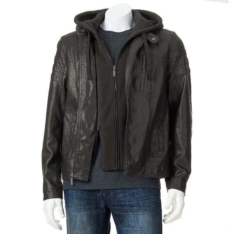 Big & Tall Marc Anthony Slim-Fit Faux-Leather Jacket