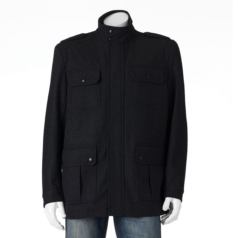 Big & Tall Apt. 9® Solid Modern-Fit Wool-Blend 4-Pocket Storm Coat